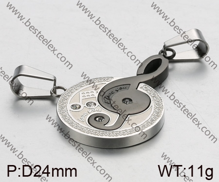 St Steel Couple Pendants